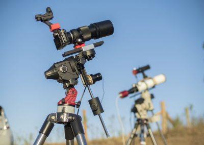 OMD EM5 with vintage OM 300mm lens mounted on SkyWatcher Star Adventurer