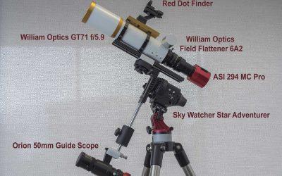 William Optics GT71 with WO Field Flattener 6A2