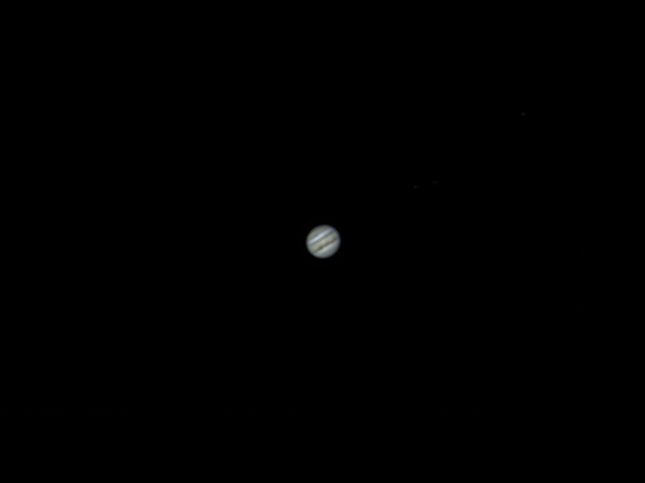 Jupiter captured with William Optics GT 102 and ASI 120 MC-S planetary camera