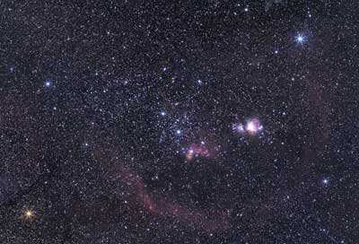 Widefield astrophotography of Orion using the ZWO ASI 294 MCPRO