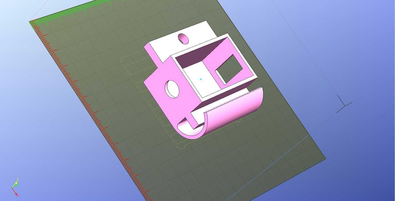 ASIair 12v-5v DC converter 3D printed adapter bracket ready for 3D printing