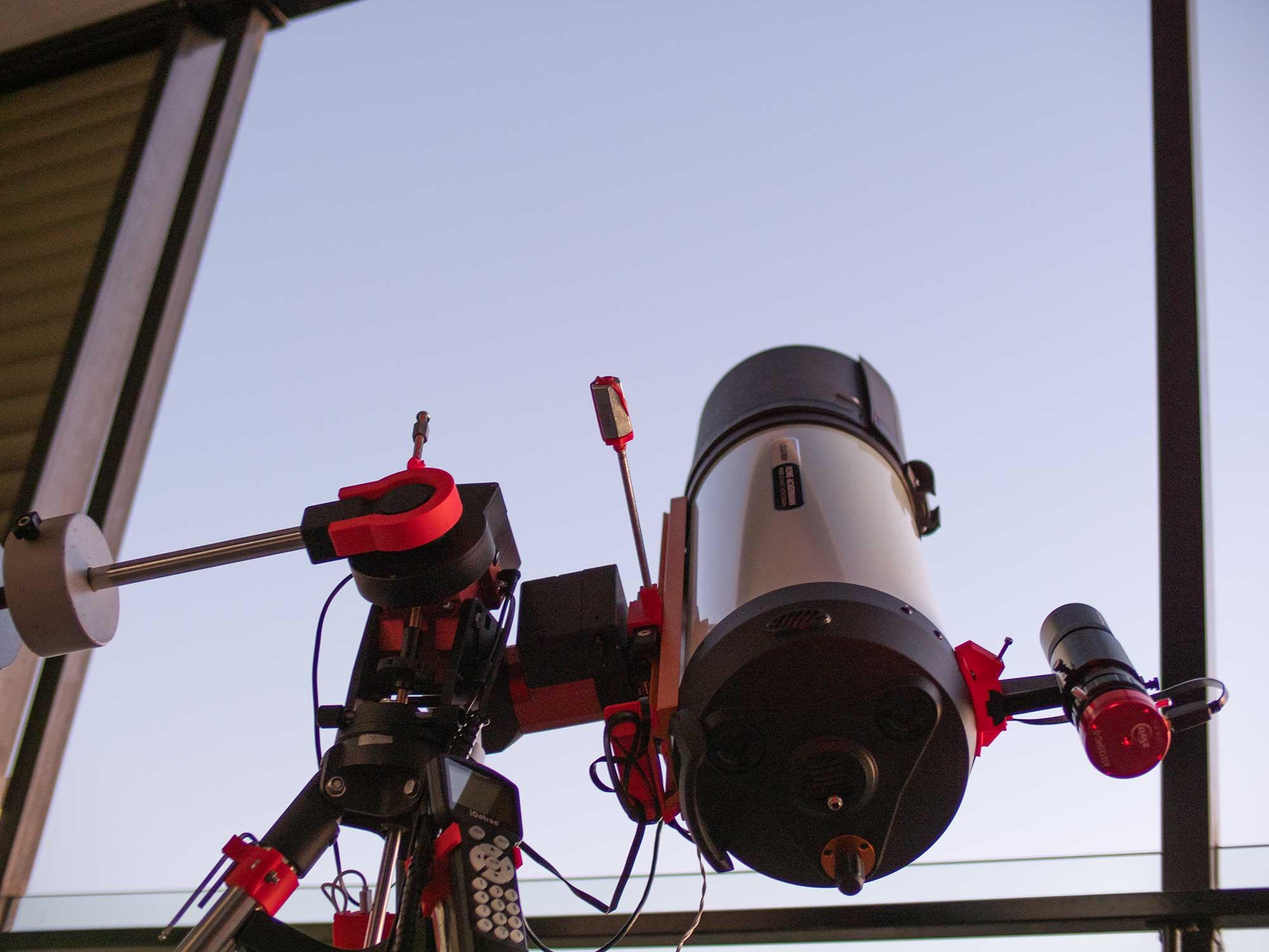 The RASA8 telescope on the Ioptron CEM40 mount
