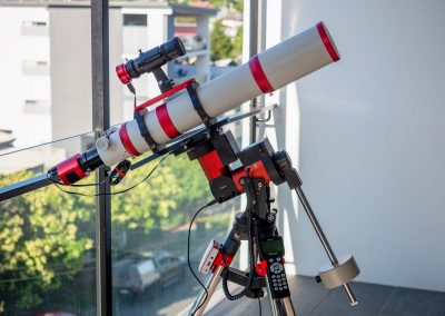 William Optics GTF102 on the CEM40 mount balcony astrophotography