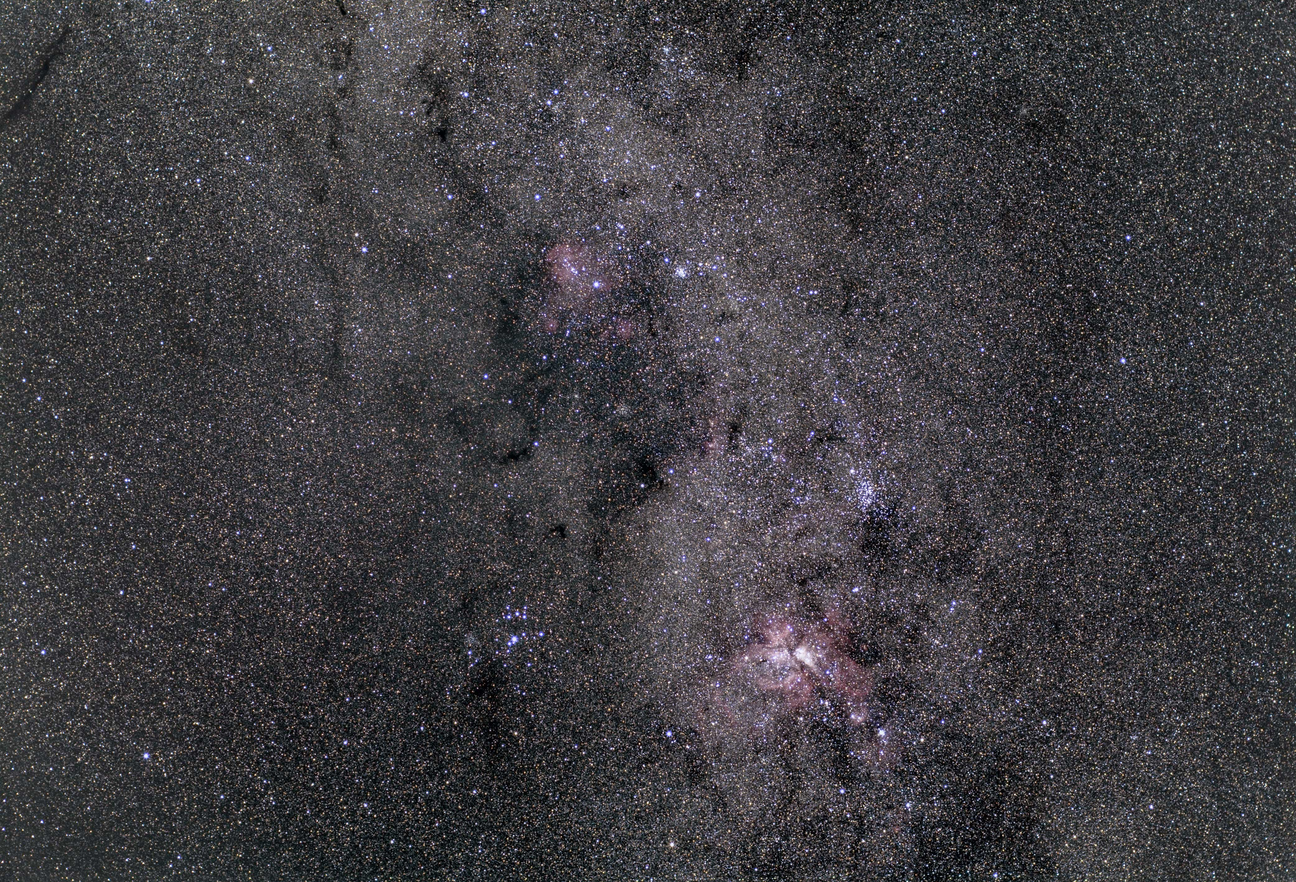 Eta Carinae wide field captured using an Olympus 50mm lens  & ASI294MC Pro camera