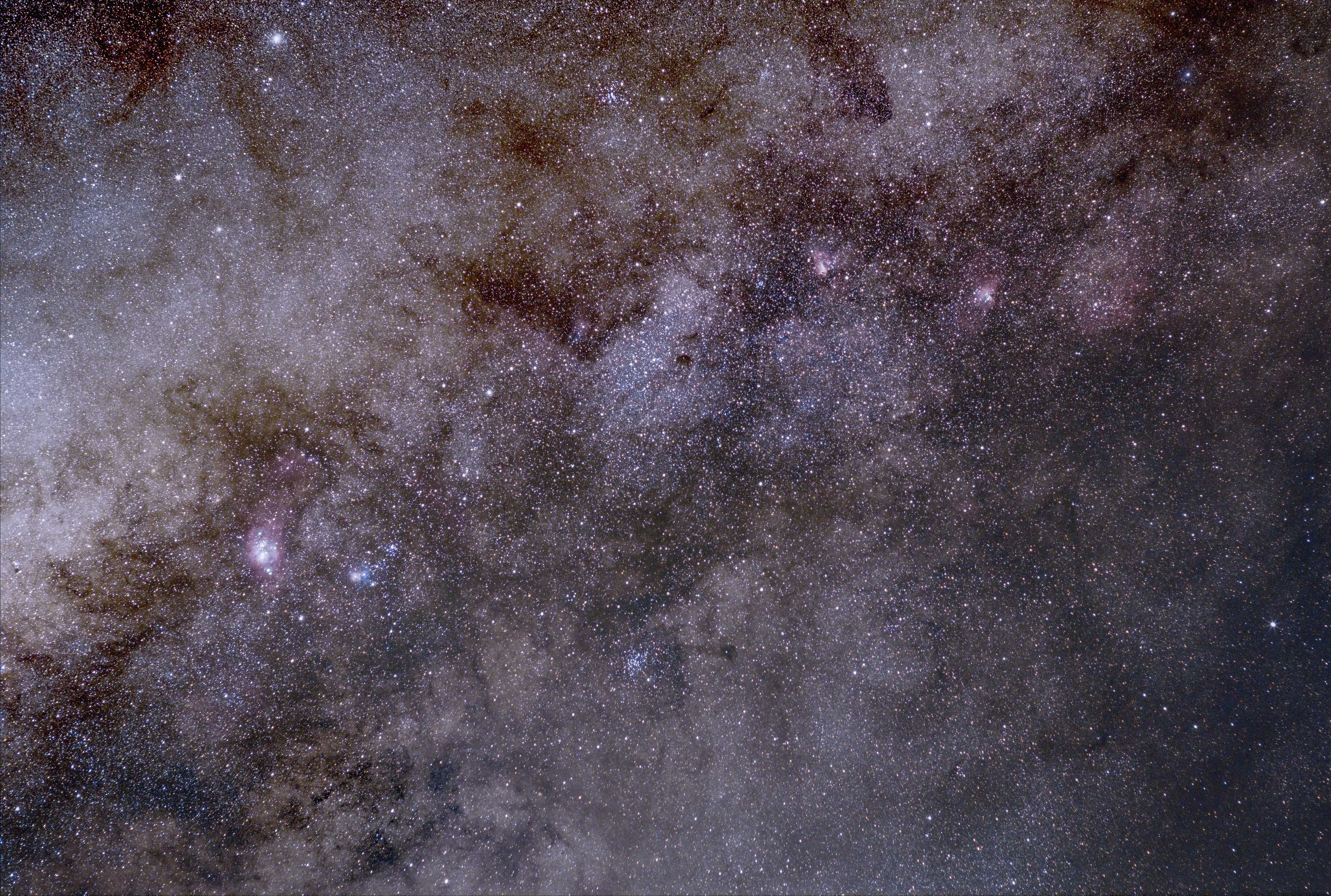 Sagittarius wide field with Orion 50mm lens and ASI294MC Pro