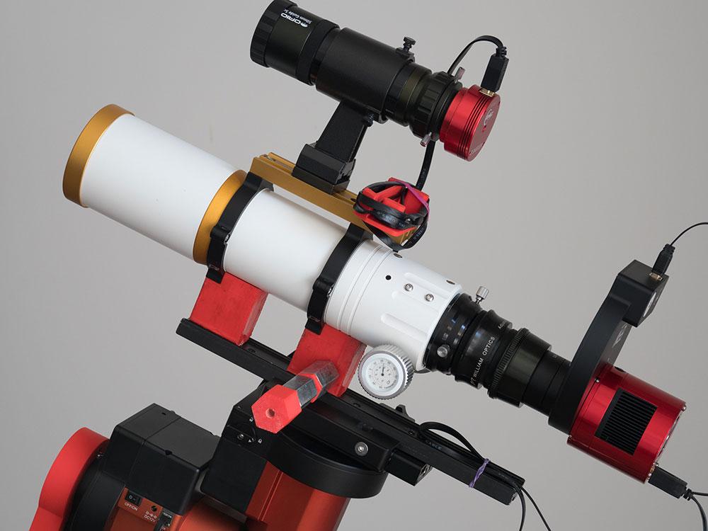 The William Optics GT71 telescope with ASI183MM Pro camera