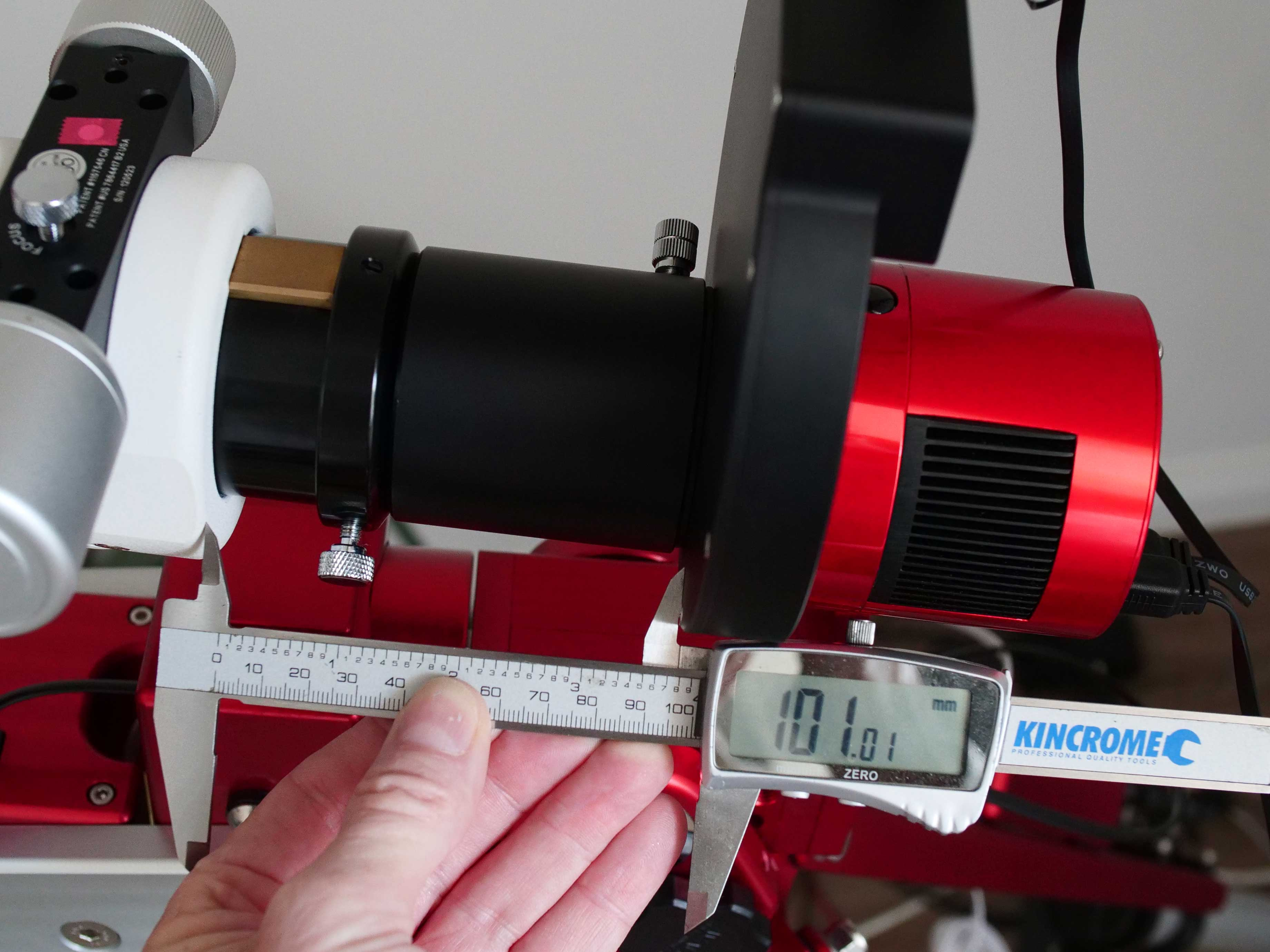Measuring the camera distance to get approximate focus for next time