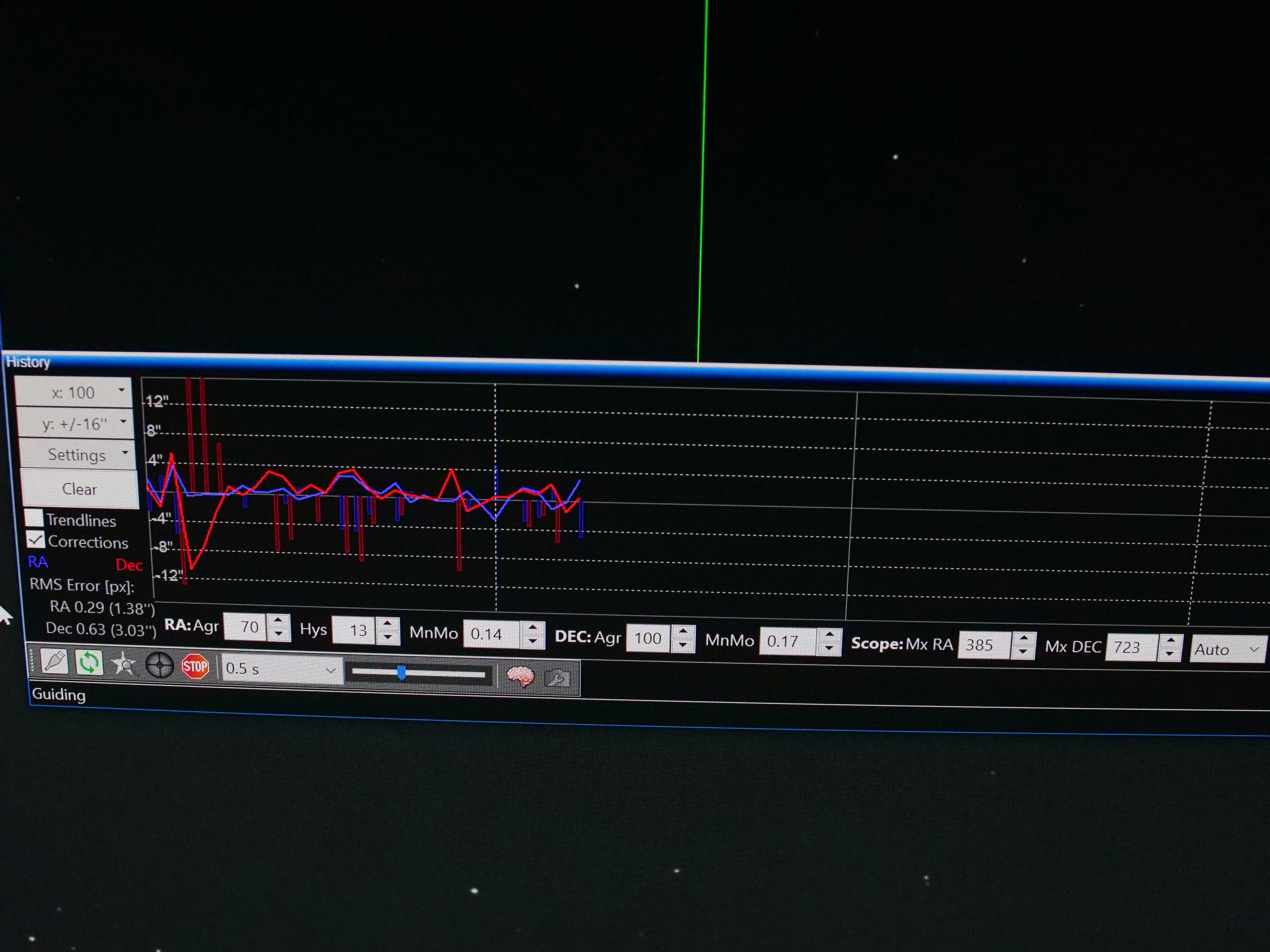 PHD2 settings for the Avalon M Zero mount