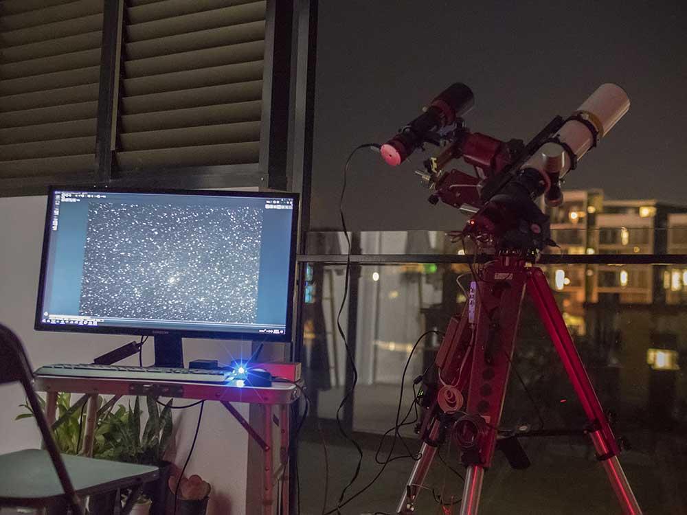 William Optics GT71 capturing M71