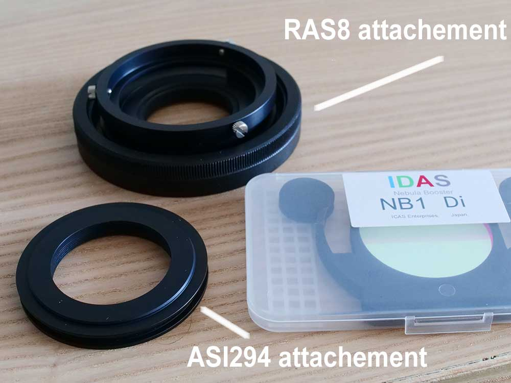 Individual parts of the IDAS RAS8 filter holder assembled