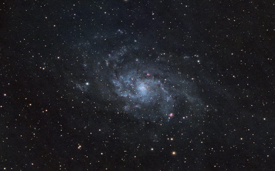M33 galaxy captured with RASA8 & ASI183MC camera