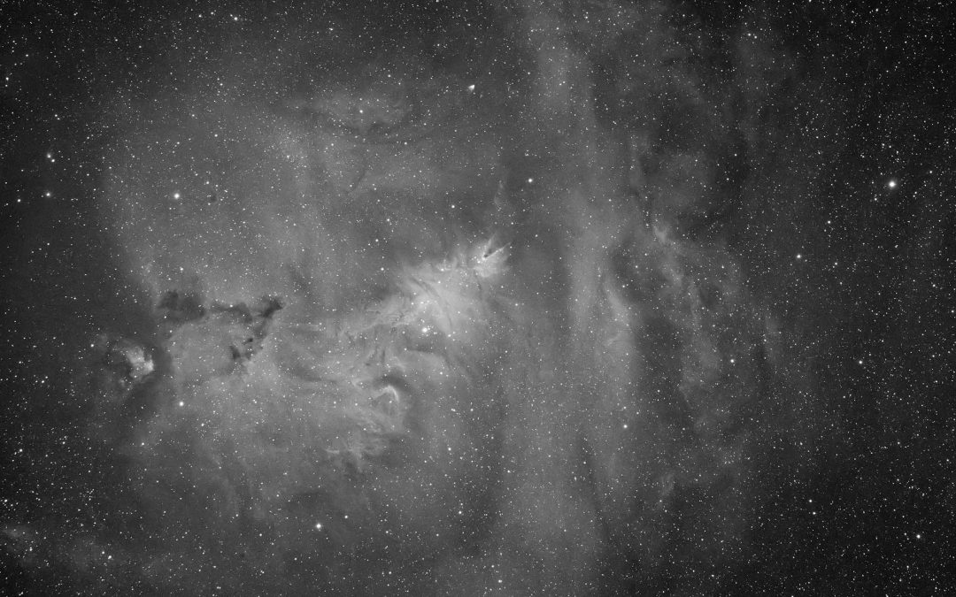 The Borg55FL captures NGC 2264 in hydrogen alpha