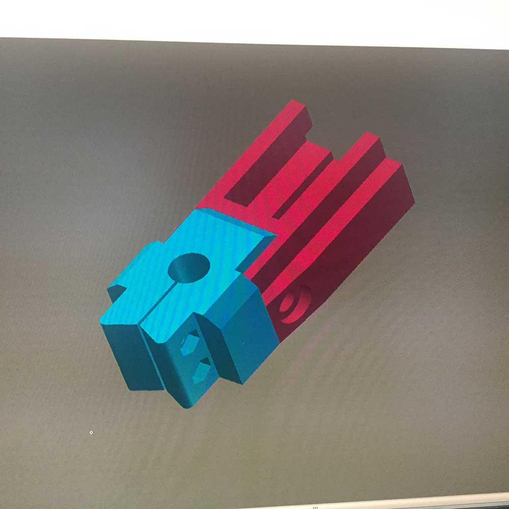 The 3D printed bracket for the Orion 50mm guide scope to Star Adventure mount in CAD.
