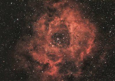 Rosette Nebula captured with RASA8 & ASI183MC camera