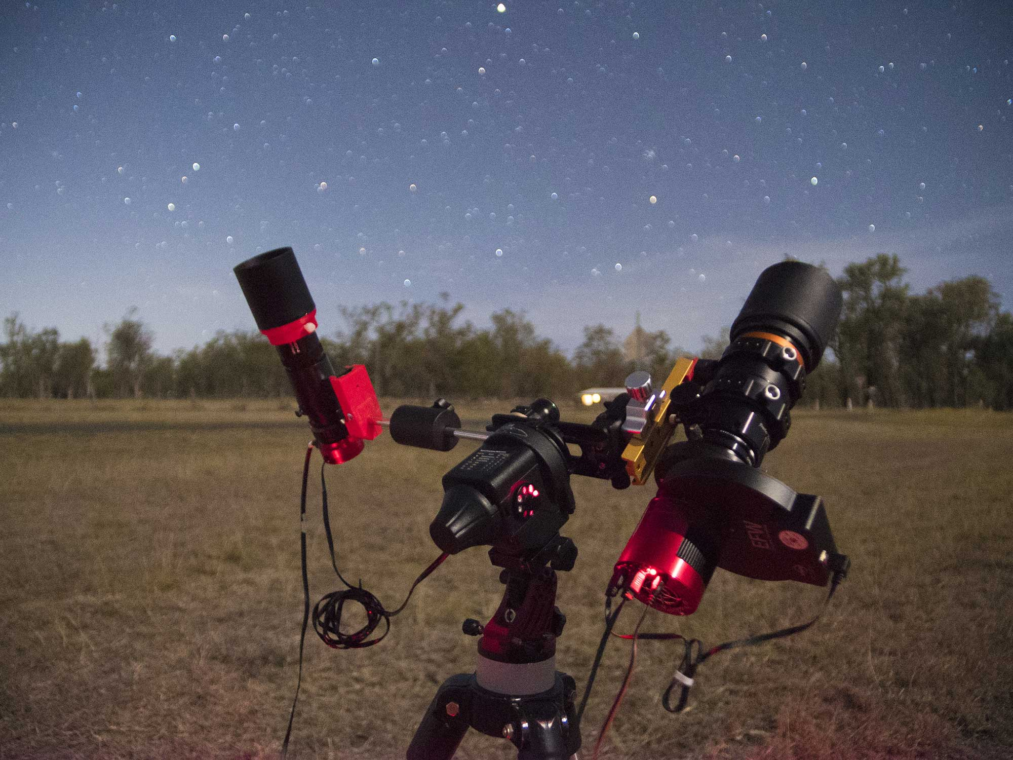 In the field with the Star Adventurer mount and Orion 50mm guide scope